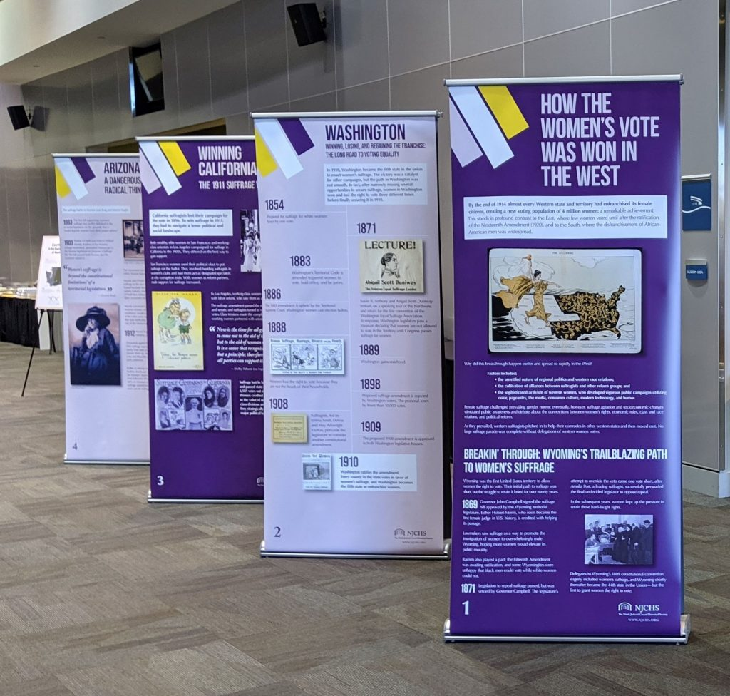 Exhibit with roll up banners